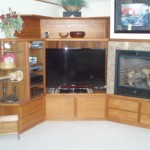 Custom Teak Built-In Entertainment Center