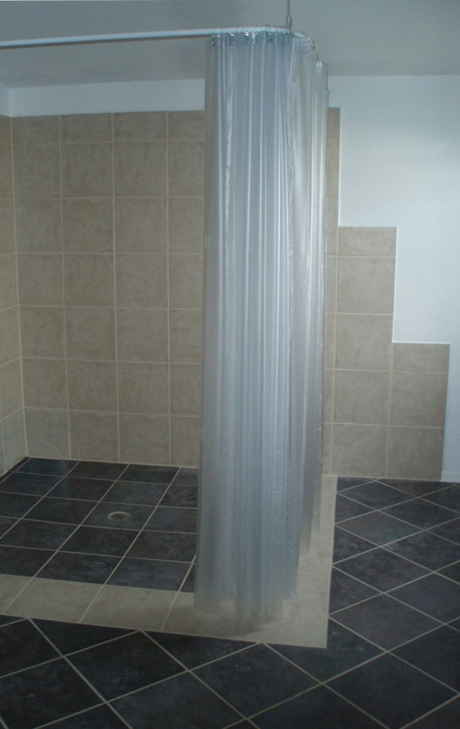The Result Is A Completely Curb Less Shower, That Is Extremely Functional  For A Wheel Chair Bound Person.